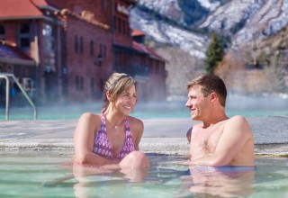 Soaking at Glenwood Hot Springs