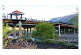 The Glenwood Pedestrian Bridge as seen from the historic train depot