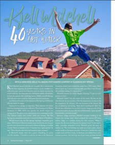 Roaring Fork Lifestyle magazine feature on Kjell Mitchell, CEO of Glenwood Hot Springs